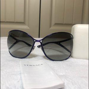 Like New Versace Purple Sunglasses
